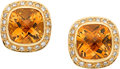 Jewelry, CITRINE, DIAMOND, GOLD EARRINGS, CAROL SILVERA. ...