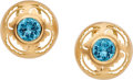 TOPAZ, GOLD EARRINGS, CAROL SILVERA