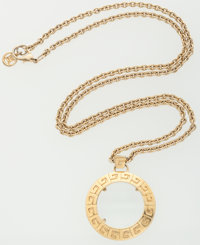 Givenchy Gold Magnifying Glass Necklace