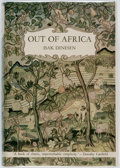 Books:Literature 1900-up, Isak Dinesen. Out of Africa. New York: Random House, [1938].First edition. Publisher's original binding, in a facsi...