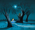 Animation Art:Concept Art, Mary Blair Alice in Wonderland Alice and the Cheshire Cat Concept Painting (Walt Disney, 1951)....