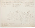 Military & Patriotic:Indian Wars, Custer and His Officers at Fort Abraham Lincoln: An Original Sketch by 2nd Lieutenant George D. Wallace....