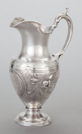 Silver & Vertu:Hollowware, AN AMERICAN COIN SILVER PITCHER, Shreve & Co., San Francisco, California, circa 1900. Marks: GEO. SHREVE & CO., SAN FRANCI...