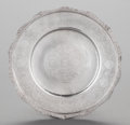 Paintings, A PERSIAN SILVER PLATE, 20th century. Marks: 84, (script). 11 inches diameter (27.9 cm). 17.59 troy ounces. ...