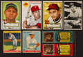 Baseball Cards:Autographs, 1930's-1950's Vintage Baseball Stars & Hall of Famers Signed Card Group (8). ...