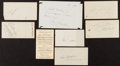 Boxing Collectibles:Autographs, 1937-59 Vintage Boxing Signed Cuts Lot of 8....