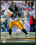 Football Collectibles:Photos, Troy Polamalu Signed Oversized Photograph....