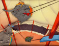 Animation Art:Production Cel, Dumbo Flying Trapeze Elephants Production Cel Courvoisier Setup (Walt Disney, 1940)....
