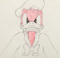Animation Art:Production Drawing, Self-Control Donald Duck Production Drawing (Walt Disney, 1938)....
