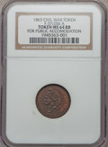 Civil War Patriotics, 1863 For Public Accommodation MS64 Red and Brown NGC.Fuld-37/256a..........................................................