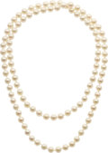 Estate Jewelry:Necklace, CULTURED PEARL NECKLACE. ...