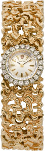 Clocks & Mechanical, ROLEX LADY'S DIAMOND, GOLD WRISTWATCH. ...