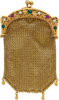 Estate Jewelry:Purses, DIAMOND, RUBY, EMERALD, GOLD COIN PURSE. ...