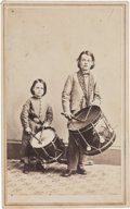 Photography:CDVs, Unidentified Boys with Early Drums. ...