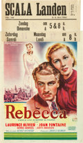 """Movie Posters:Hitchcock, Rebecca (United Artists, 1946). First Post-War Belgian (11.5"""" X15.5"""").. ..."""