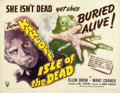 "Movie Posters:Horror, Isle of the Dead (RKO, 1945). Half Sheet (22"" X 28"") Style B.. ..."