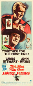 "Movie Posters:Western, The Man Who Shot Liberty Valance (Paramount, 1962). Insert (14"" X36"").. ..."