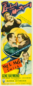 "Movie Posters:Hitchcock, Mr. & Mrs. Smith (RKO, 1941). Insert (14"" X 36"").. ..."