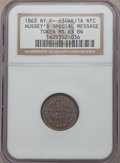 Civil War Merchants, 1863 Hussey's Special Message, New York, New York MS63 Brown NGC,Fuld-NY630AK-1a; 1863 Hussey's Special Message, New York, Ne...(Total: 2 coins)