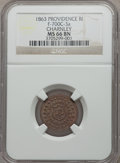Civil War Merchants, 1863 Charnley, Providence, Rhode Island, MS66 NGC.Fuld-RI700C-3a....