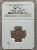 Civil War Patriotics, 1863 Our Little Monitor MS62 Brown NGC. Fuld-237/423a....