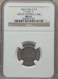 Civil War Merchants, 1864 Great Central Fair, Philadelphia, Pennsylvania MS61 NGC.Baker-363, Fuld-750L-1f, Julian CM-43....