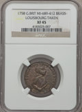 Betts Medals, 1758 Louisbourg Taken XF45 NGC. Betts-405 Variant, MI-689-412.Brass. Great Britain....