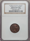 U.S. Presidents & Statesmen, (circa-1860) Henry Clay, Tariff MS65 Brown NGC. DeWitt-HC-C.Copper....