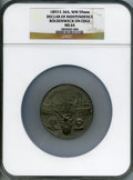 Expositions and Fairs, 1893 World's Columbian Exposition, Declaration of Independence,Boldenweck on Edge MS64 NGC. Eglit-36a. White metal, 59 mm....