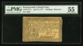 Colonial Notes:Pennsylvania, Pennsylvania April 10, 1777 4s PMG About Uncirculated 55.. ...