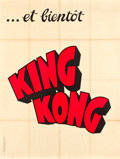 """Movie Posters:Horror, King Kong (RKO, 1933). French Grande (47"""" X 62.5"""") Advance Style.. ..."""