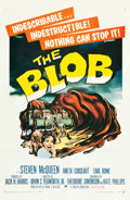 "Movie Posters:Science Fiction, The Blob (Paramount, 1958). One Sheet (27"" X 41""). ScienceFiction.. ..."
