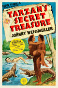 "Movie Posters:Adventure, Tarzan's Secret Treasure (MGM, 1941). One Sheet (27.5"" X 41"") StyleC.. ..."
