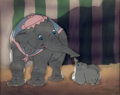 Animation Art:Production Cel, Dumbo Mrs. Jumbo and Baby Dumbo Production Cel Courvoisier Setup (Walt Disney, 1941)....