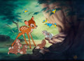 "Animation Art:Model Sheet, Bambi ""Say Bird"" Limited Edition Cel Setup (Walt Disney,1993)...."