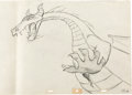 Animation Art:Production Drawing, Sleeping Beauty Maleficent as Dragon Pan Production Drawing(Walt Disney, 1959)....