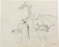 Animation Art:Production Drawing, Sleeping Beauty Maleficent Production Drawing (Walt Disney,1959)....