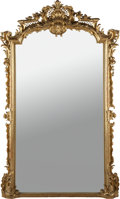 Decorative Arts, Continental:Other , A NAPOLEON III CARVED GILT WOOD MIRROR, circa 1860. 84 inches high(213.4 cm). ...