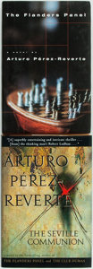 Books:Mystery & Detective Fiction, Arturo Perez-Reverte. The Seville Communion [and:] TheFlanders Panel. New York: Harcourt Brace, [various da...(Total: 2 Items)