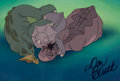 Animation Art:Production Cel, The Land Before Time Production Cel Setup Signed by DonBluth (Don Bluth Studios, 1988)....