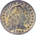 Early Half Dimes, 1794 H10C MS62 PCGS. V-2, LM-2, R.5....