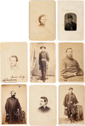Photography:CDVs, Nice Group of Civil War Images Including One Tintype and Seven Cartes de Visites.... (Total: 8 Items)