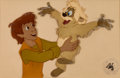 Animation Art:Production Cel, The Black Cauldron Taran and Gurgi Production Cel (WaltDisney, 1985)....