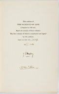 Books:Natural History Books & Prints, H.G. Wells, Julian S. Huxley and G.P. Wells. SIGNED/LIMITED. TheScience of Life. Garden City: Doubleday, Doran, 193... (Total:4 Items)