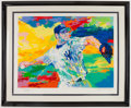 Baseball Collectibles:Others, Roger Clemens Signed LeRoy Neiman Serigraph....