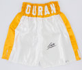 Boxing Collectibles:Autographs, Roberto Duran Signed Boxing Trunks....