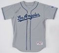 Baseball Collectibles:Uniforms, Tommy Lasorda Signed Los Angeles Dodgers Jersey....