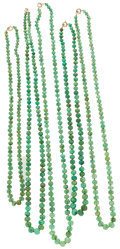 Estate Jewelry:Necklaces, Emerald Bead Necklaces. ... (Total: 5 Items)