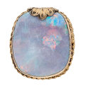 Estate Jewelry:Brooches - Pins, Opal, Gold, Gilt Silver, Pendant-Brooch. ...
