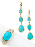 Estate Jewelry:Suites, Turquoise, Diamond, Gold Jewelry. ... (Total: 2 Items)